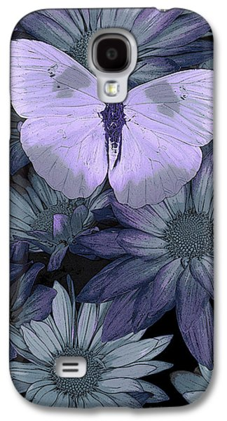 Mystical Paintings Galaxy S4 Cases - Blue Butterfly Galaxy S4 Case by JQ Licensing