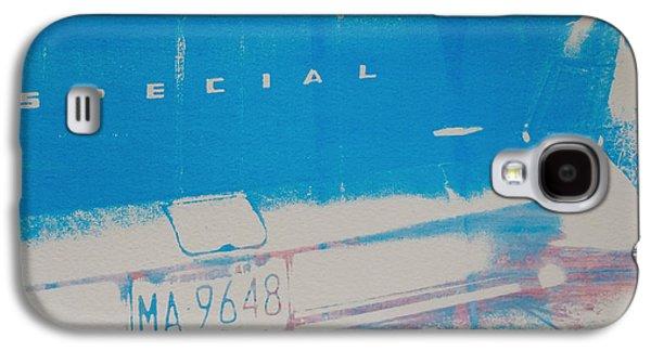 Screen Print Galaxy S4 Cases - Blue Car Galaxy S4 Case by David Studwell