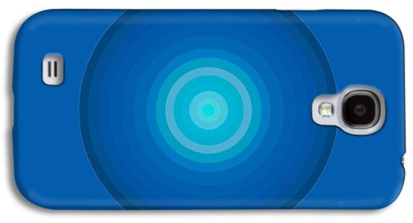 Blue Circles Galaxy S4 Case by Frank Tschakert