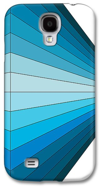 Abstract Digital Drawings Galaxy S4 Cases - Blue Diamond Galaxy S4 Case by Sandi Hauanio
