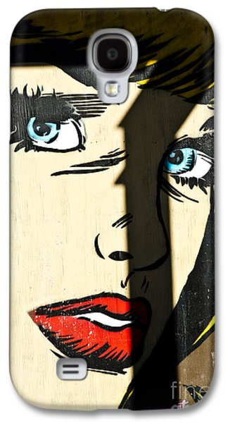Slam Galaxy S4 Cases - Blue eyed comics lady mural Galaxy S4 Case by Yurix Sardinelly