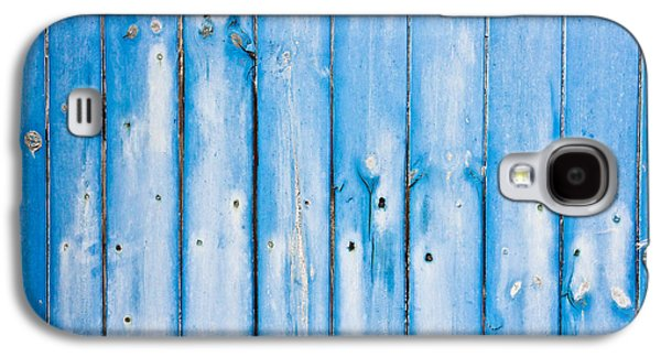 Nature Abstract Galaxy S4 Cases - Blue fence panels Galaxy S4 Case by Tom Gowanlock