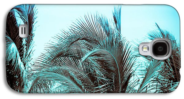 Abstracted Galaxy S4 Cases - Blue Hawaii Galaxy S4 Case by Colleen Kammerer
