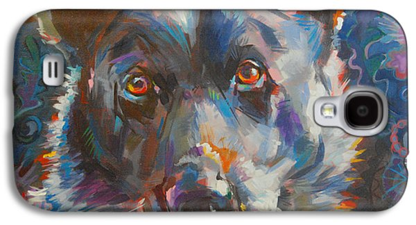 Cattle Dog Galaxy S4 Cases - Blue Heeler Galaxy S4 Case by Kimberly Santini