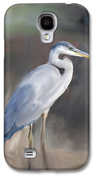 Recently Sold -  - Abstract Digital Paintings Galaxy S4 Cases - Blue Heron Painting  Galaxy S4 Case by Don  Wright