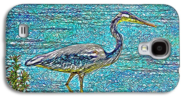 Blue Heron Reflections - Lake In Boulder County Colorado Galaxy S4 Case by Joel Bruce Wallach