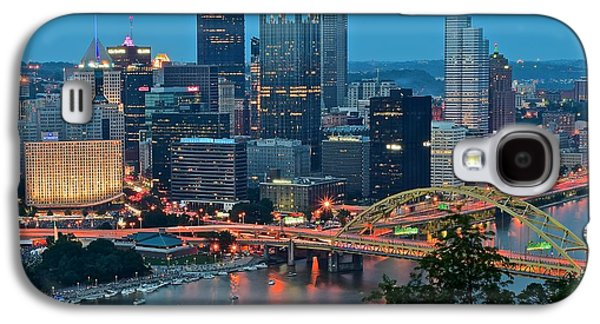 Blue Hour In Pittsburgh Galaxy S4 Case by Frozen in Time Fine Art Photography