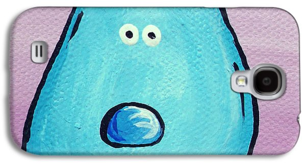Character Portraits Paintings Galaxy S4 Cases - Blue Galaxy S4 Case by Jera Sky