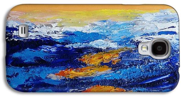 Blue Landscape Iv Galaxy S4 Case by Bachmors Artist