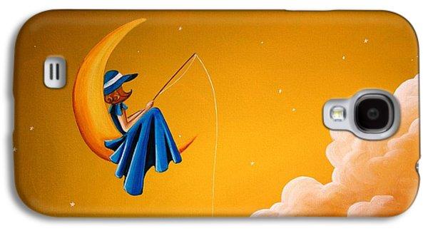 Girl Galaxy S4 Cases - Blue Moon Galaxy S4 Case by Cindy Thornton