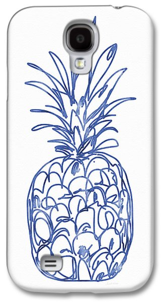 Blue Pineapple- Art By Linda Woods Galaxy S4 Case by Linda Woods
