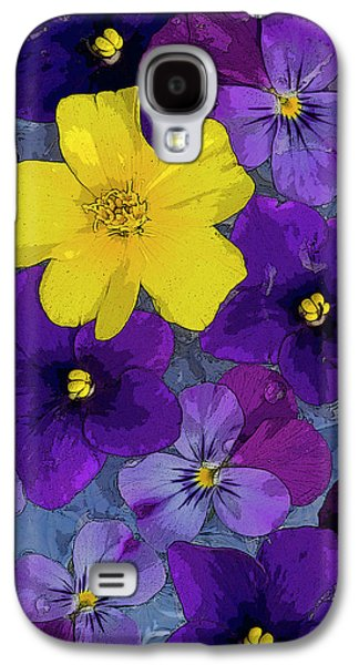 Mystical Paintings Galaxy S4 Cases - Blue Pond Galaxy S4 Case by JQ Licensing