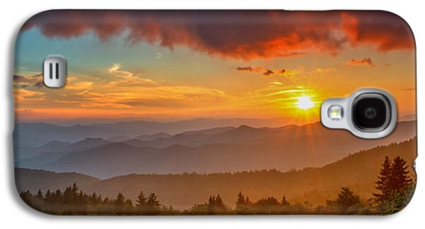 Sun Galaxy S4 Cases - Blue Ridge Sunset Pano Galaxy S4 Case by Joye Ardyn Durham