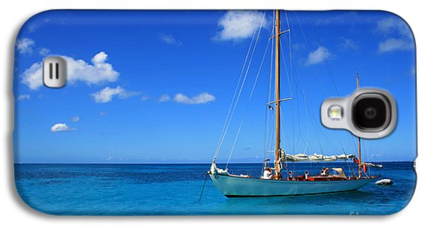 Best Sailing Photos Galaxy S4 Cases - Blue Sailing Galaxy S4 Case by Perry Webster