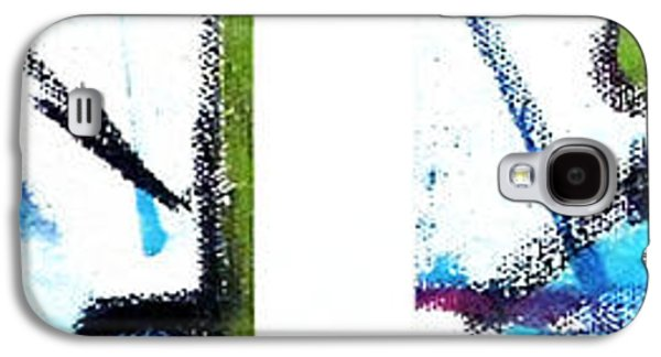 Blue Abstracts Galaxy S4 Cases - Blue Series 2 of 3 Galaxy S4 Case by Jera Sky