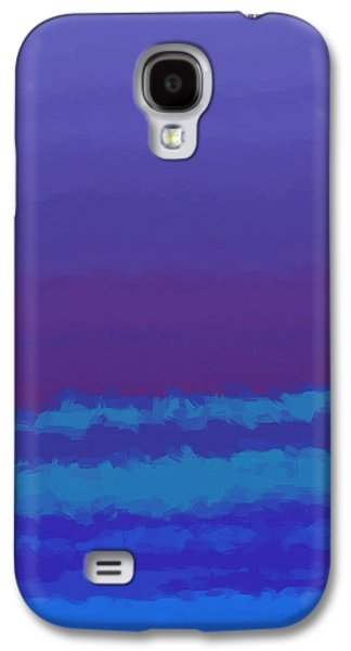 Abstract Digital Tapestries - Textiles Galaxy S4 Cases - Blue Shades Galaxy S4 Case by Suzi Freeman