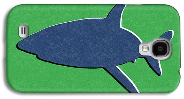 Blue Shark Galaxy S4 Case by Linda Woods