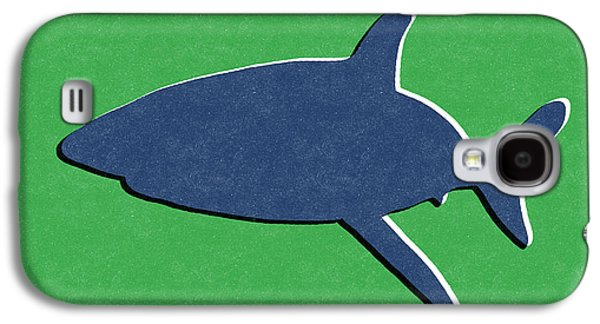 Green Galaxy S4 Cases - Blue Shark Galaxy S4 Case by Linda Woods