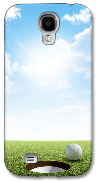Sink Hole Galaxy S4 Cases - Blue Sky And Putting Green Galaxy S4 Case by Allan Swart