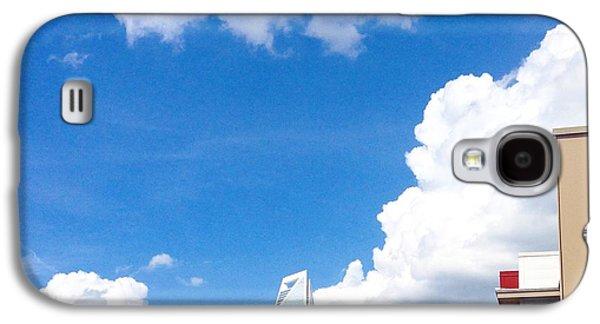 Blue Sky- Red Brick  Galaxy S4 Case by Rebecca  Damron