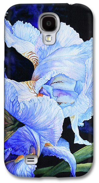 Blue Summer Iris Galaxy S4 Case by Hanne Lore Koehler