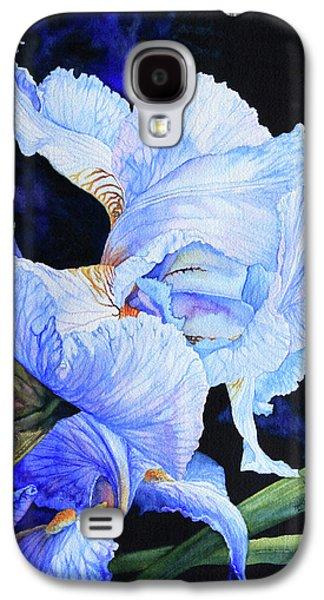 Lore Galaxy S4 Cases - Blue Summer Iris Galaxy S4 Case by Hanne Lore Koehler