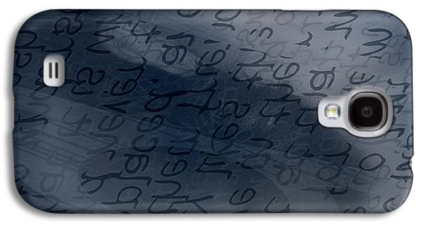 Behind The Scenes Galaxy S4 Cases - Blue Talk Galaxy S4 Case by Vicki Ferrari