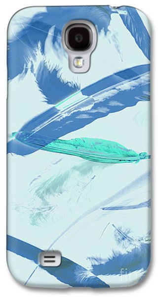Blue Toned Artistic Feather Abstract Galaxy S4 Case by Jorgo Photography - Wall Art Gallery