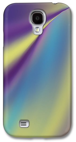 Digital Tapestries - Textiles Galaxy S4 Cases - Blue Trail Galaxy S4 Case by Suzi Freeman