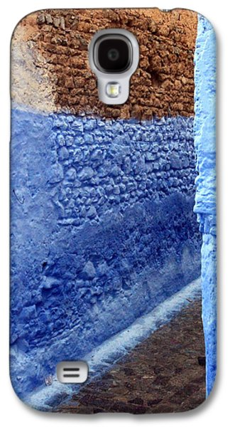 Rabat Photographs Galaxy S4 Cases - Blue Walls of Chefchaouen Galaxy S4 Case by Ramona Johnston