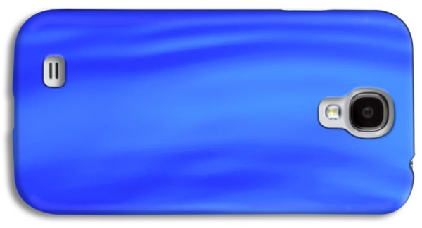 Blue Wave Abstract Number 4 Galaxy S4 Case by Steve Gadomski