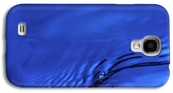 Blue Wave Abstract Number 5 Galaxy S4 Case by Steve Gadomski