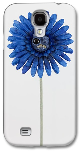 Floral Sculptures Galaxy S4 Cases - Blue Weird Flower Galaxy S4 Case by Michael Palmer