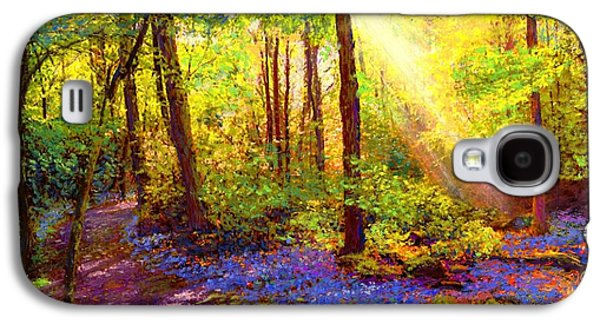 Colorful Paintings Galaxy S4 Cases - Bluebell Blessing Galaxy S4 Case by Jane Small