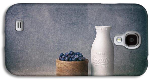 Blueberries And Cream Galaxy S4 Case by Tom Mc Nemar