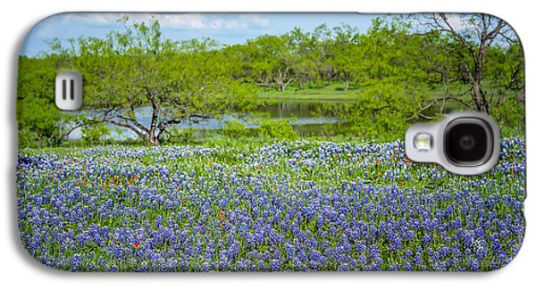 Tamyra Ayles Galaxy S4 Cases - Bluebonnet Pond Galaxy S4 Case by Tamyra Ayles