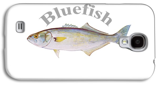 Gamefish Drawings Galaxy S4 Cases - Bluefish Fish by Dehner Galaxy S4 Case by T Shirts R Us -