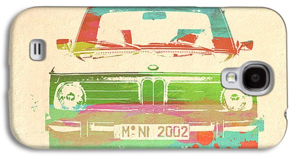 Concept Photographs Galaxy S4 Cases - BMW 2002 Front Watercolor 3 Galaxy S4 Case by Naxart Studio