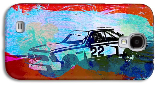 Concept Paintings Galaxy S4 Cases - BMW 3.0 CSL Racing Galaxy S4 Case by Naxart Studio