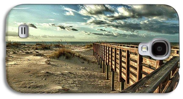 Crimson Tide Galaxy S4 Cases - Boardwalk on the Beach Galaxy S4 Case by Michael Thomas