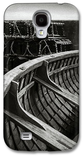 Boat And Creel Nets Galaxy S4 Case by Dave Bowman