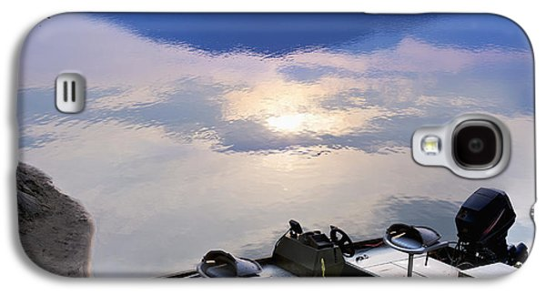 Boats In Reflecting Water Galaxy S4 Cases - Boat Moored On The Peg Leg Bar Galaxy S4 Case by Lorna Rande