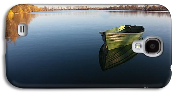 Boat On Lake Galaxy S4 Case by Nailia Schwarz