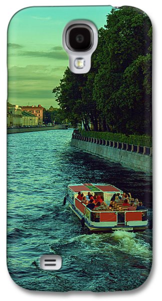 Boat Trips Along The Numerous Rivers And Canals Of The Evening St. Petersburg Galaxy S4 Case by George Westermak