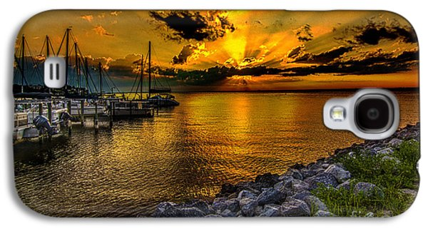 Transportation Tapestries - Textiles Galaxy S4 Cases - Boats in Bay Galaxy S4 Case by James Hennis