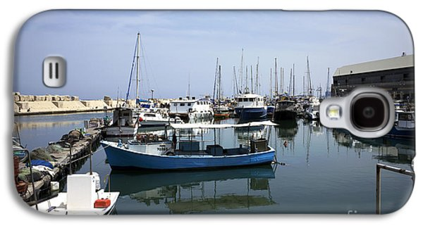 Boats In Water Galaxy S4 Cases - Boats in the Jaffa Port Galaxy S4 Case by John Rizzuto