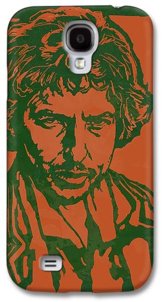 Bob Dylan Pop Stylised Art Sketch Poster Galaxy S4 Case by Kim Wang