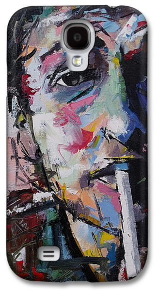 Bob Dylan Paintings Galaxy S4 Cases - Bob Dylan Galaxy S4 Case by Richard Day