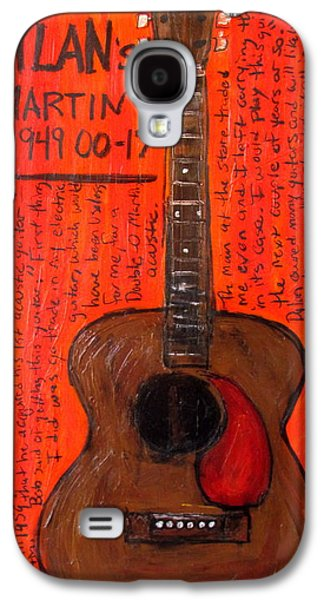 Bob Dylan Paintings Galaxy S4 Cases - Bob Dylans First Acoustic Galaxy S4 Case by Karl Haglund