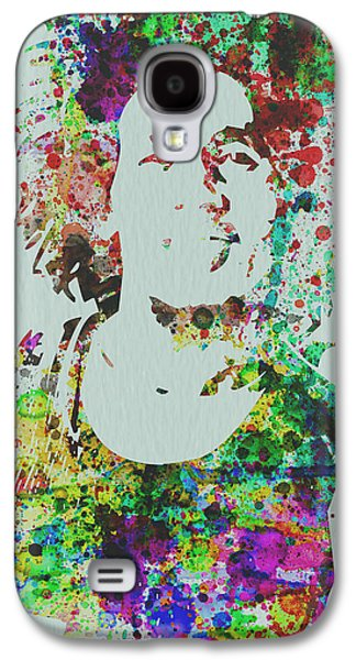 Rock Concerts Galaxy S4 Cases - Bob Marley Music Legend Galaxy S4 Case by Naxart Studio